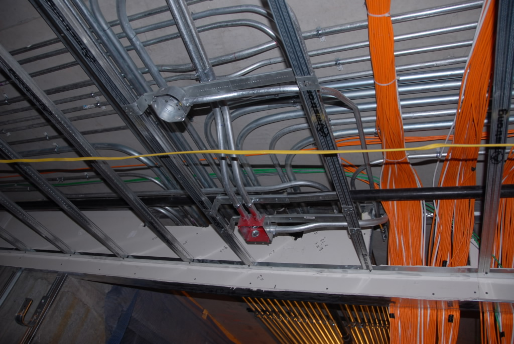 power and fire alarm conduits